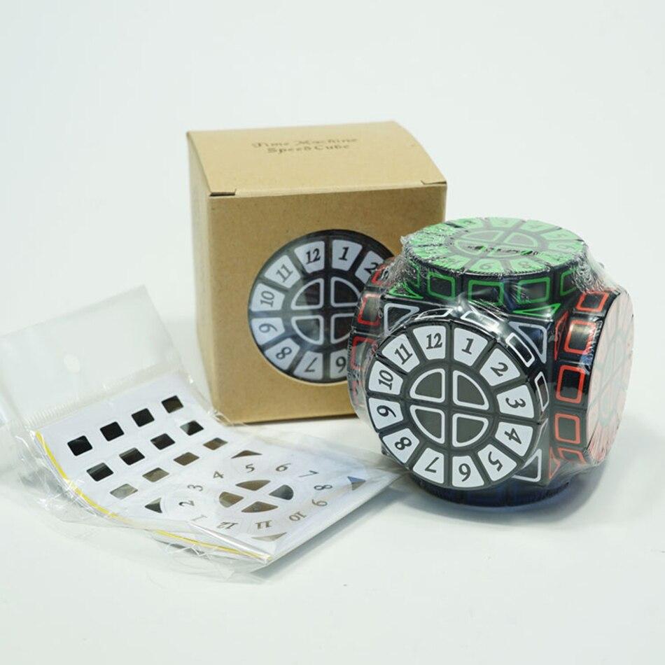 Base noire de Cube de Machine de temps avec des autocollants Puzzle Cube de vitesse Cube magique jouet éducatif jouets spéciaux