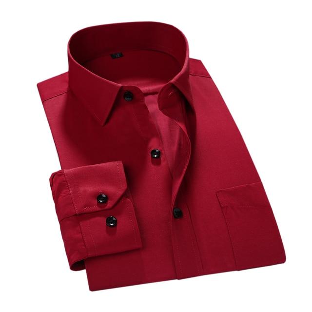 MACROSEA 2017 Men Work/Office Wear Clothes Brand Long Sleeve Formal Men Dress Shirts Men Social shirts Slim Fit Design 3