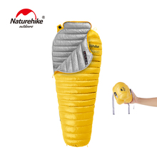 Naturehike Outdoor Sleeping Bag White Goose Down Mummy Camping Hiking Climbing Ultralight Down Sleeping Gear Bed NH18S300-D