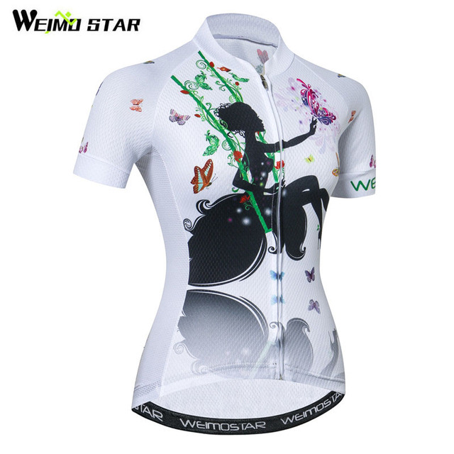Weimostar Beautiful Cycling Jersey Women Mountain Road Bike Jersey Shirt  Summer Breathable MTB Bicycle Clothing Maillot 92d471bb3