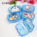 Luronbn contact lenses box Medical plastic colored contact lens case Color double container for contact lens 20 pieces / lot