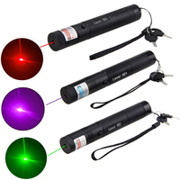 3pcs/Lot Military 10mile Purple+Green+Red Hunting Laser Dot Sight Light Visible Burning Beam Burn Lazers Pointer+Safety Key|Lasers| |  -