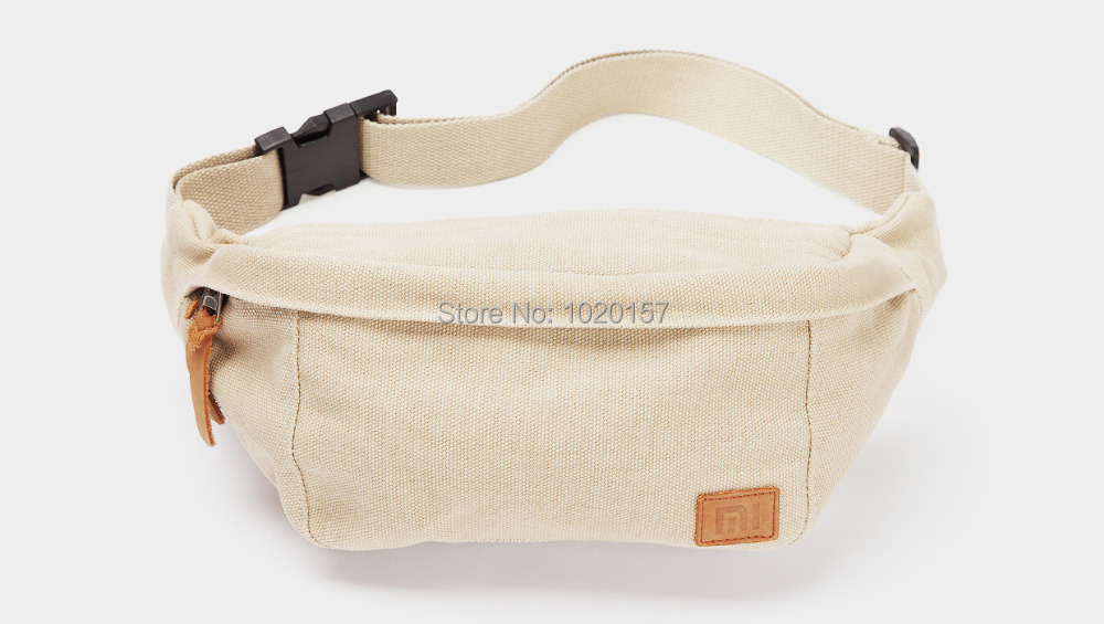 60e5bc09fe2e6 US $28.99 |Original XiaoMi Mi 100% Cotton Waist Bag Belt Fanny Pack Bumbag  Hip Bag Sport Cross body Canvas Belt Bag-in Waist Packs from Luggage & Bags  ...