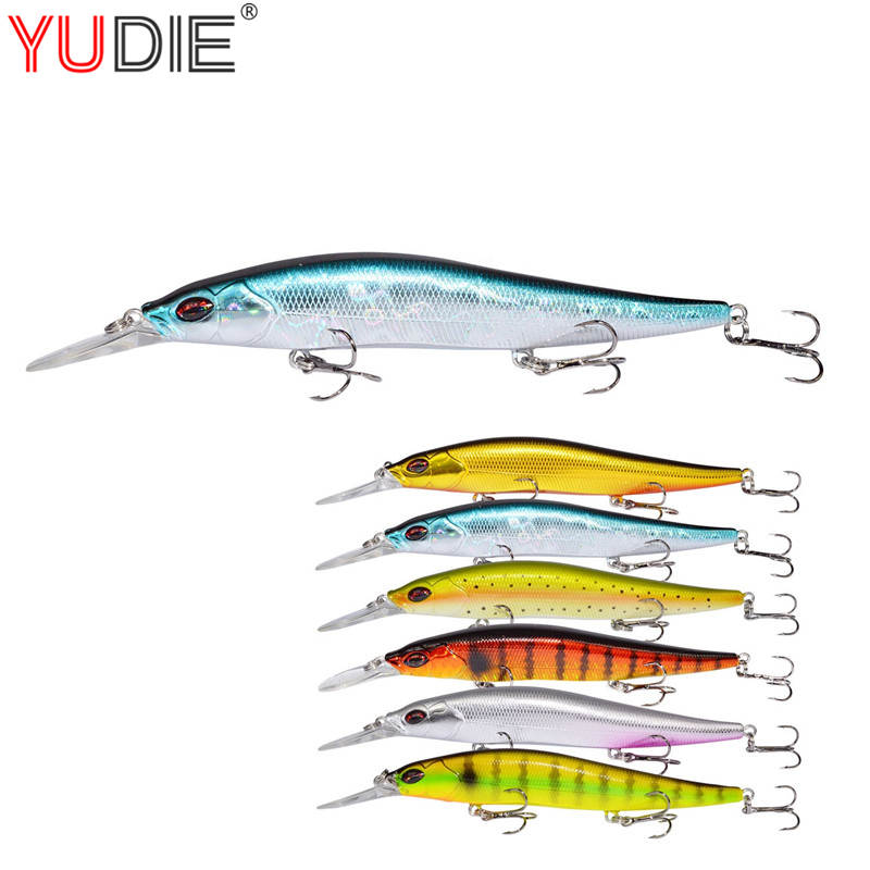 1Pcs Minnow Fishing Lures Deep Diving Hard Bait 13cm 14g 6 Colors High Quality Wobblers Swim Artificial Fish Lure Crankbaits