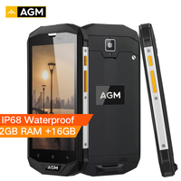 AGM A8 SE IP68 Waterproof Mobile Phone 5.0HD Touch Android 7.1 2GB RAM 16GB ROM Quad Core 8MP 4050mAh 4G LTE Smartphone Celular