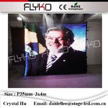 Горячие продаж 2019 Складная противопожарные светодиодные видео ткань ТВ show p35mm 3×4 м PC контроллер