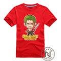 Одна часть зоро футболка мужчины мальчик футболка аниме луффи футболки Roronoa зоро