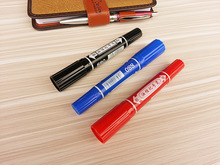 Two Ends Mark Stud Indelible Marker Pen Hook Line Writing Fluency Bright Color Not Fade Office and School for Students,Officers