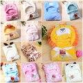 Animais com capuz cobertor do bebê recém-nascido/baby toalha de banho/roupão de banho do bebê manto encantador macio dormir trq0005