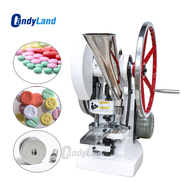 CandyLand Tablet Press Machine TDP5 type 50KN Pressure Press Harder Candy Sugar Milk Maker Single Punch Tablet Making Machine