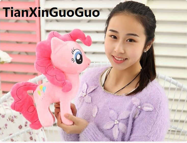 about 30cm pink horse Pinkie Pie plush toy soft throw pillow, birthday gift t4663