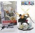 """Бесплатная доставка прохладный 7 """" ZERO одна часть Roronoa зоро - пиратская охотник битва ver. в штучной упаковке 17 см пвх фигурку коллекция модель кукла"""