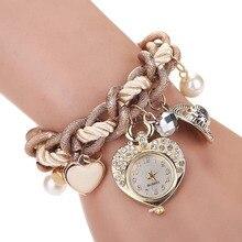 Xiniu Casual Fashion Elegant Women Girl Heart Bracelet Watches Metal Preparation Watch Ladies Watch Clock Relogio Feminino Saat