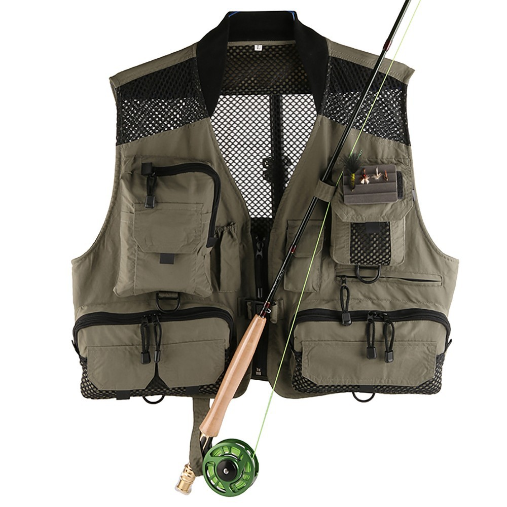 High Quality Men s Breathable Mesh Fly Fishing Vest Quick Dry Super Light Fishing Jackets Outdoor
