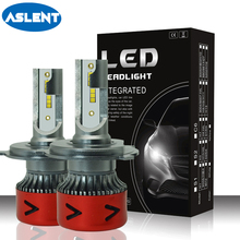 ASLENT 2pcs MINI H7 LED Car Headlight H1 H3 H4 H11 H13 9005/HB3 9006 9004 9007 CSP Chips Bulbs Auto Lamp 110W 14000lm 6000K 12V anmingpu 2pcs 12000lm pair headlight bulbs h4 h7 led headlights h11 9005 9006 9004 9008 h1 led with cree chips 6000k car lights