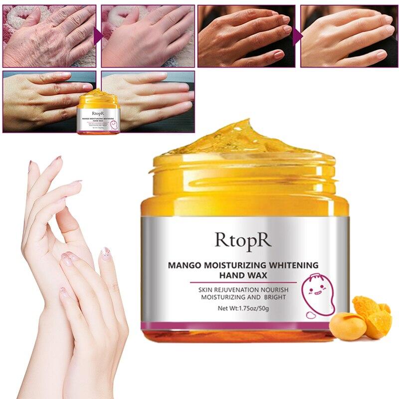 Mango Moisturizing Hand Wax Whitening Skin Hand Mask Repair Exfoliating Calluses Film Anti-Aging Hand Skin Cream 50g TSLM1