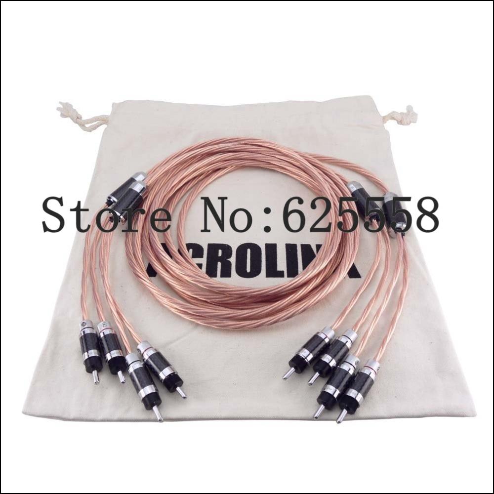 2.5M Viborg OCC Copper Telfon Speaker Audio Cable HIFI loudspeaker Cable