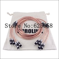 2.5M Hifi OCC Copper Telfon Speaker Audio Cable HIFI loudspeaker Cable