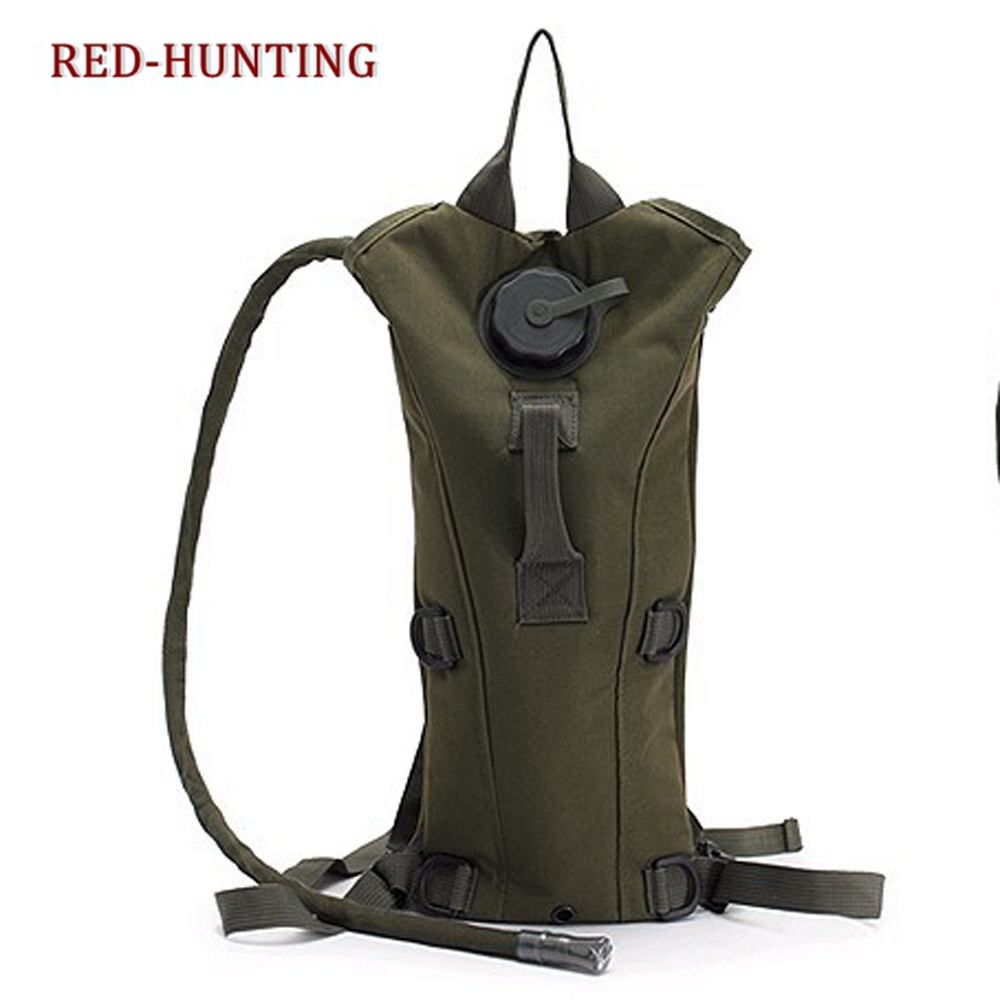 3L Water Bladder Backpack Water Bag Outdoor Camping Molle Military Tactical Hydration Knapsack Cycling Hiking Climbing Camo