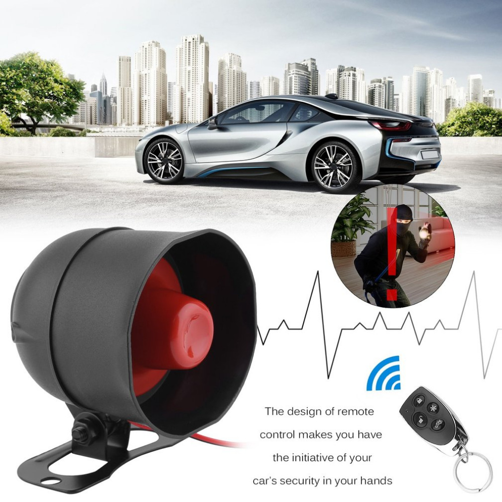 Universal 1-Way Car Alarm Vehicle System Protective