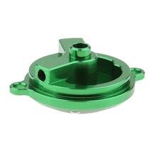 80mm CNC Aluminum Alloy Engine Oil Filter Cap For Kawasaki KLX250/D-Tracker 1993-2016 Green 3.14 Inch Oil Filter Cover Cap Parts стоимость