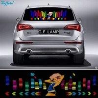 90*25センチ踊り女の子フラッシュ車のステッカー音楽リズムledのelシートライトランプサウンド音楽活性イコライザ