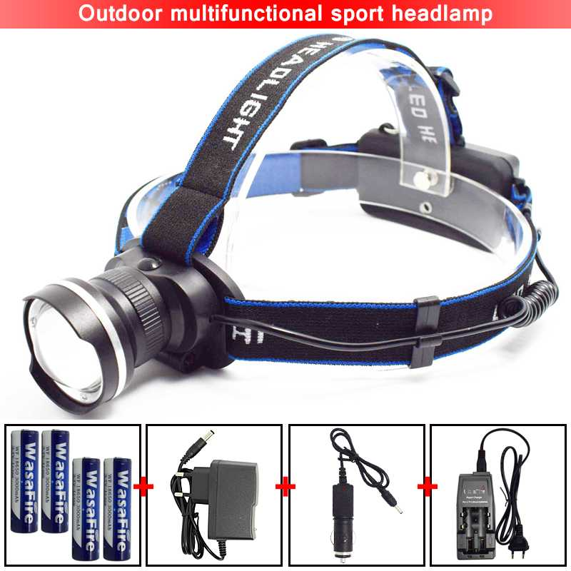 Wasafire XML-T6 LED Headlamp 18650 Headlight Camping Head Light Zoom 3 Modes Lamp Waterproof Flashlight Forehead Lantern Torch sitemap 27 xml