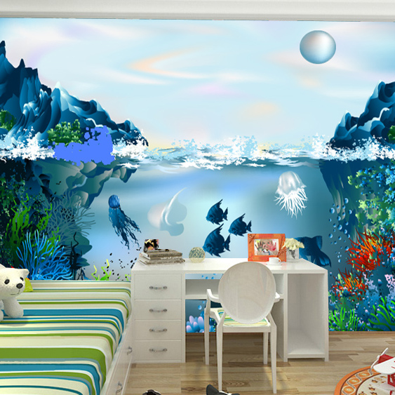 Large mural wallpaper for children room background wall for Children s mural wallpaper