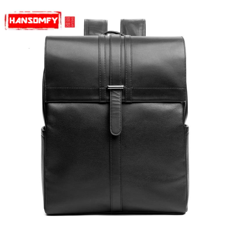 2018 The latest mens backpacks first layer leather shoulder bag to simple style college wind backpack hot mens school bag2018 The latest mens backpacks first layer leather shoulder bag to simple style college wind backpack hot mens school bag