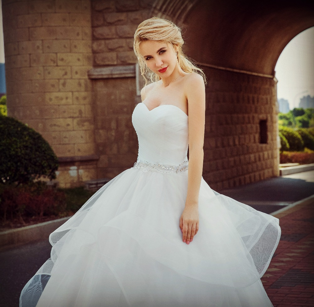 New Vintage Princess Ball Gown Wedding Dresses Beaded: 2018 New Arrive Delicate Crystal Beaded Bride Princess