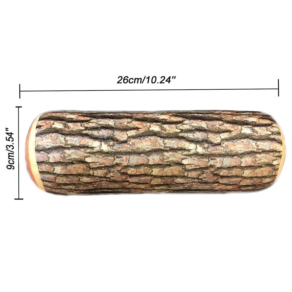 Natural Wooden Log Soft Home Cushion Neck Pillow Home Car Chair Decor OO