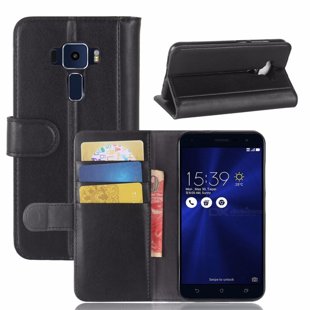 brand new a896a 4cfc6 US $10.83 5% OFF|CYBORIS For Asus ZenFone 3 ZE520KL Flip Cover Genuine  Leather for ZenFone3 ZE520 KL ZE 520 KL Phone case For Asus 3 ZE 520  Case-in ...