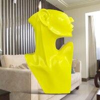 Ручной смолы Красочный Абстрактный халфлингов фигурка орнамент творческий минималистский современный дом аксессуар современного рабочег
