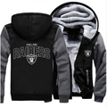 Engrossar fleece hoodie do zipper foot ball equipe raiders homens mulheres casual brasão jacket clothing