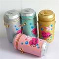 Recomendar marca personalizada diseño de moda encantadora carta bolsa de botella de la bebida botella de refresco forma del bolso de hombro niñas bolso de regalo