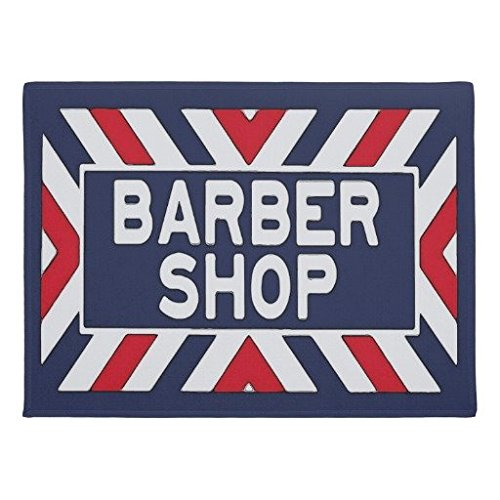 Ailovyo Barbershop Teken Antislip Entry Manier Outdoor Indoor Decor Tapijt Deurmatten, 23.6-inch X 15.7-inch
