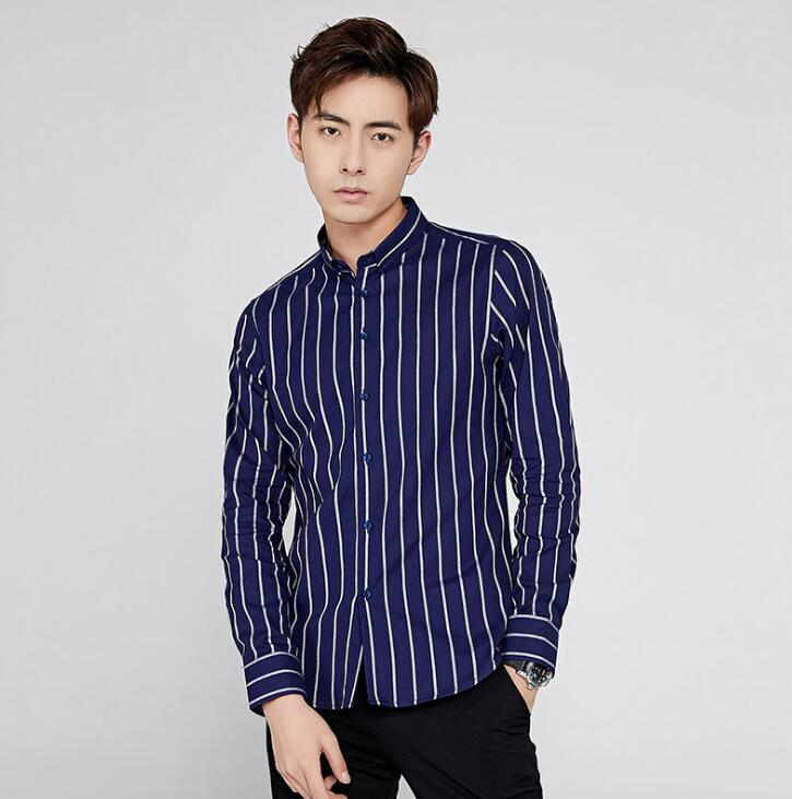 Classic Cotton Stripes Men's Casual Business Shirt