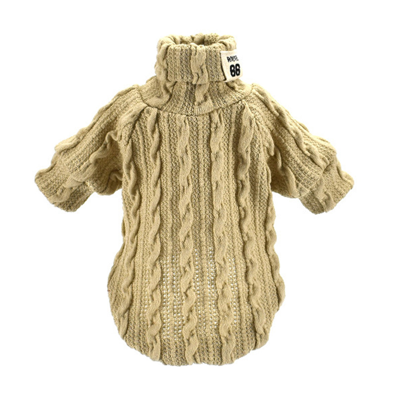 Woolen Dog Jacket in Turtleneck Design for Small Dogs as Winter Clothing 3