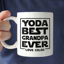 Best Grandpa Ever Funny Grandparents White Ceramics Coffee MugPersonalized Christmas Birthday Gift For Grandfather