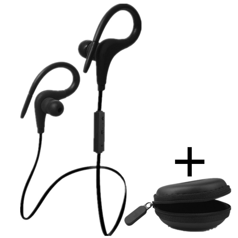 Ear Hook Earphone Bluetooth Headphone Wireless Headset Sport Fitness Earbuds with Microphone Handsfree For Iphone 7 6 6s Huawei cinkeypro mini bluetooth headset 4 1 wireless invisible sport earphone car ear earbuds for iphone 7 6 computer universal