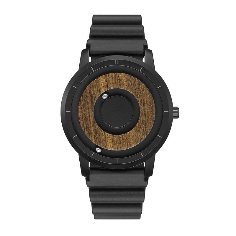 EUTOUR  Magnet Watches 2019 men watch women watches fashion Casual Quartz Watch Simple Men Minimalist Wooden dial 11