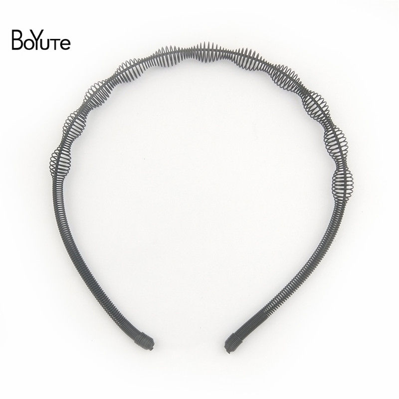 BoYuTe Retail 1 Piece Metal Black Hair Band Hairband New Style Black Color Metal Headband (5)