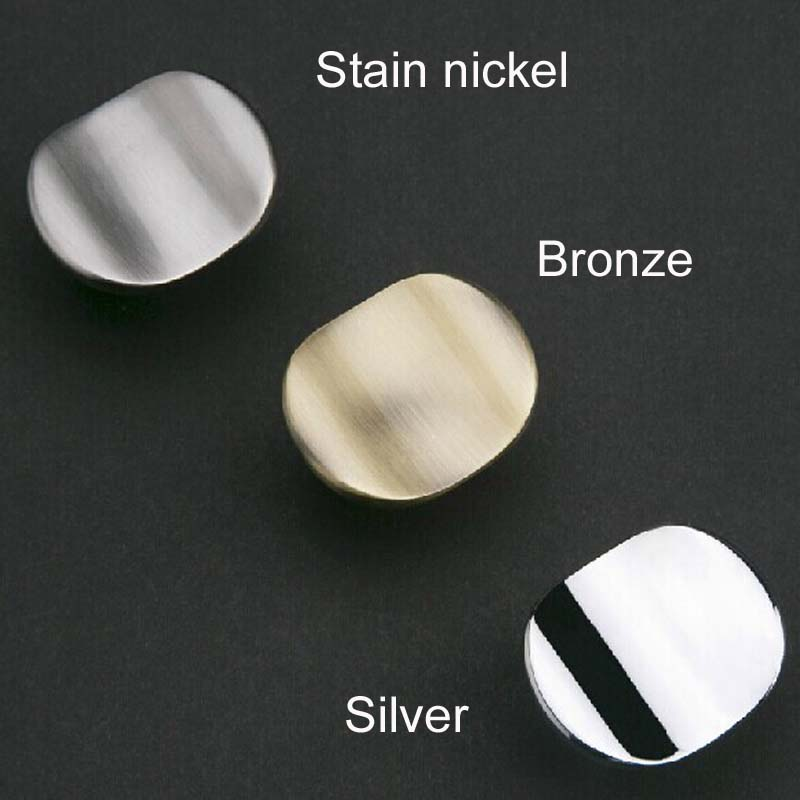 Modern Simple Drawer Knobs Bronze Kitchen cabinet pull antique zinc alloy cupboard dresser wardrobe furniture handles pulls