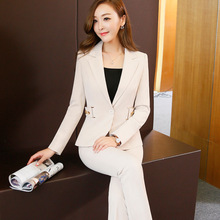 Women Slim OL Formal wear Jacket and pants suit