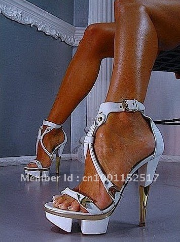 Aliexpress.com : Buy Sexy Women White Genuine Leather High Heels