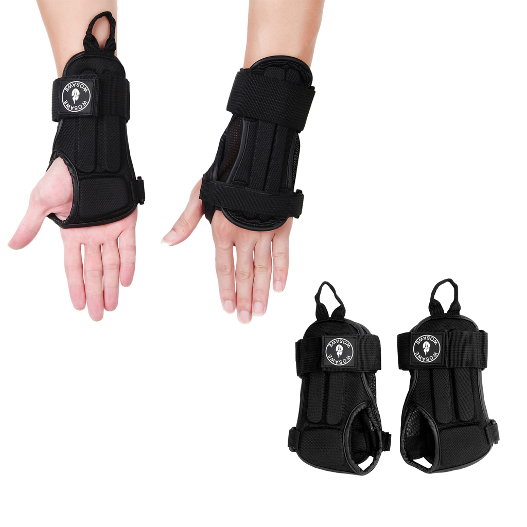 Adjustable Wrist Supports Hand Brace Gloves Protector Skiing Cycling Sports Sprain Wristband for Snowboarding Skating