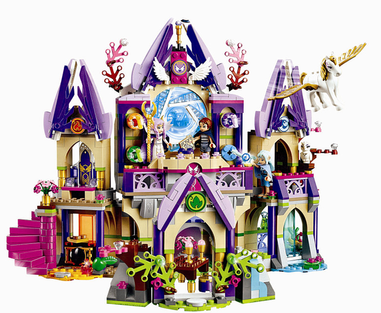 Compatible Lepine Elves Skyra's Mysterious Sky Castle Elves 809pcs Building Blocks Bricks Toys Compatible Legoe Girls Friends 809pcs new 10415 elves azari aira naida emily jones sky castle fortress building block toys