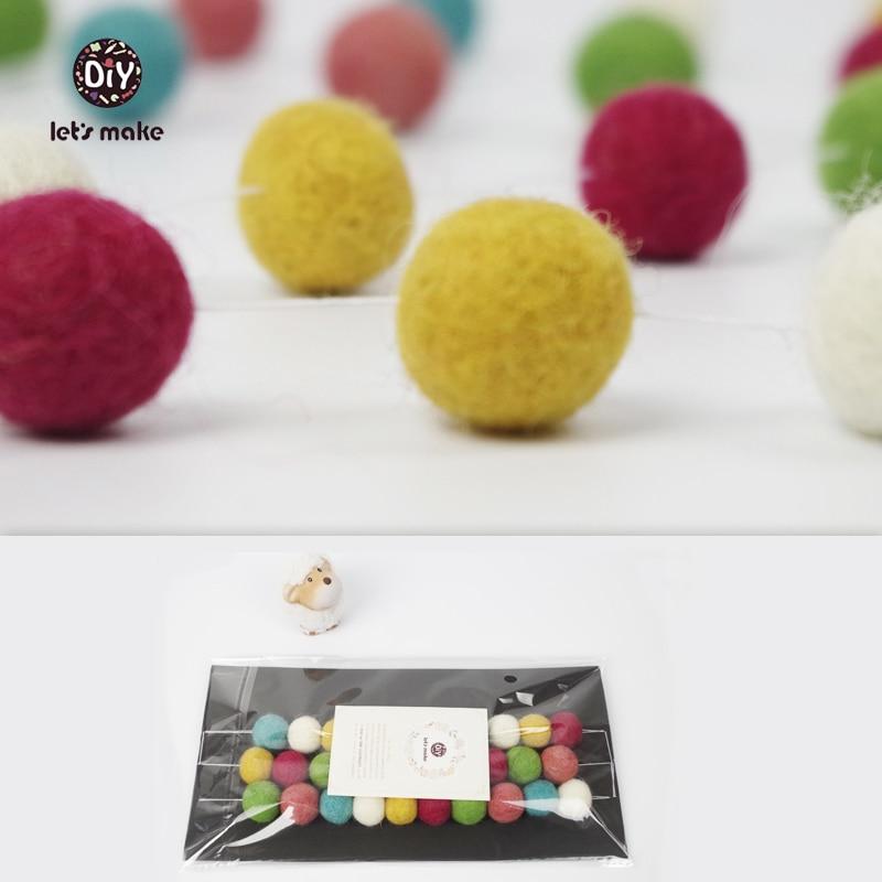 Lets Make 40pc Sweet Pink Garland Nursery Decor Pink Felt Ball Pom Pom Bunting Baby Pastel Decor Bedroom Pastel Nursery Beads