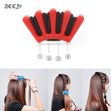 SCCJY New Hair Braider Stylist Sponge Plaitic Hair Twist Styling Accessories Braiding Tool Blue And Red Color Y7R2C