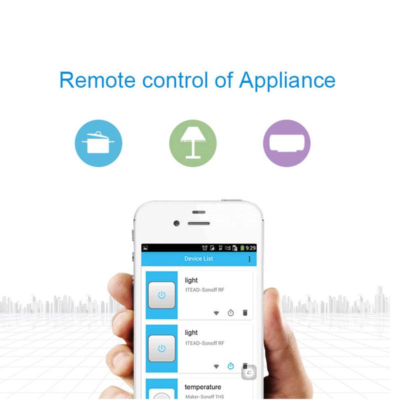 Gorący sprzedawanie Sonoff S20 Inteligentnego Domu Ładowania Adapter Bezprzewodowy Inteligentny Przełącznik BEZPRZEWODOWY Pilot Zdalnego Sterowania Gniazdo Zasilania UE/USA/UK Standard 6